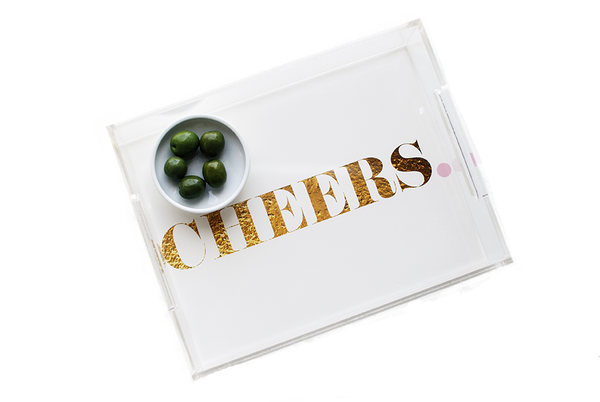 Cheers Acrylic Tray