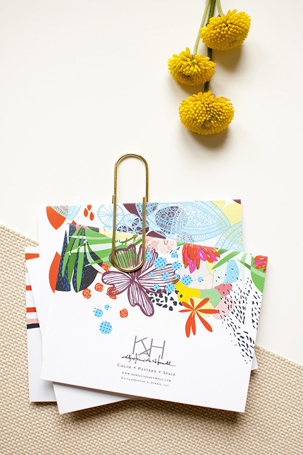 Daydream Card Set | Khristian A. Howell modern home decor online, original pattern designs, exclusive home decor designs