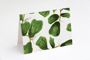 Leaf print card set - stationery set - Khristian A. Howell
