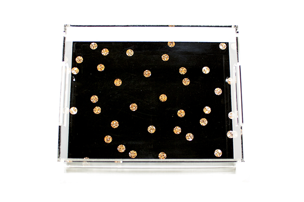 Gold Dots Acrylic Tray (more colors)