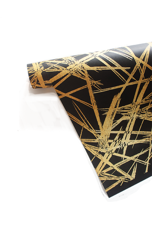 Gold Strokes Gift Wrap (more colors) | Khristian A. Howell unique Christmas wrapping paper, unusual Christmas wrapping paper, unusual Xmas wrapping paper, weird gift wrap