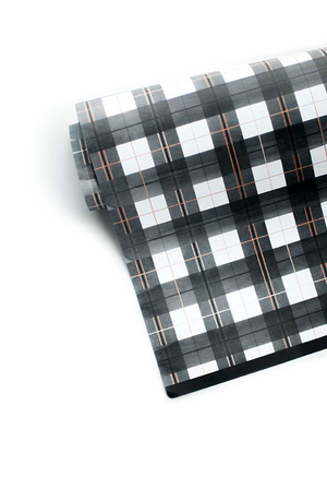 Buffalo Plaid Gift Wrap | Khristian A. Howell unique Christmas wrapping paper, unusual Christmas wrapping paper, unusual Xmas wrapping paper, weird gift wrap