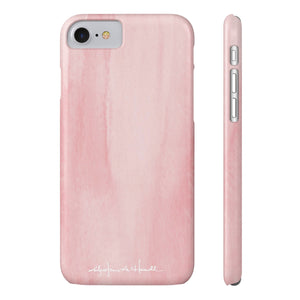 Blush Color Cap Case