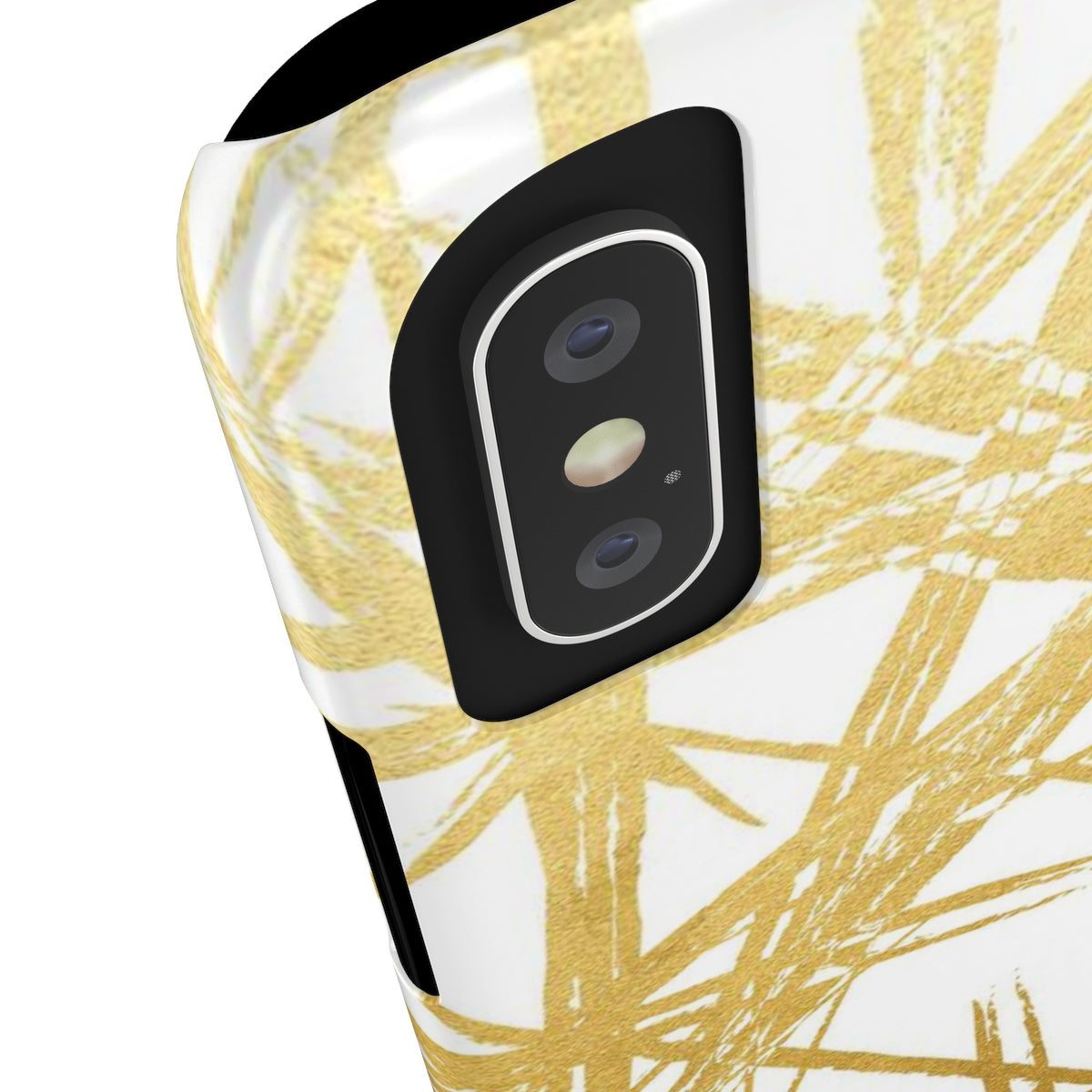 Gold Strokes White Sleek and Chic Phone Case