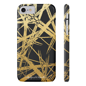 Gold Strokes Black Case