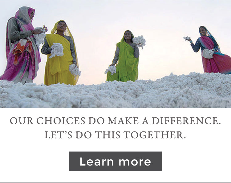 Our choices do make a difference, they inspire change. Let's do this together. Organic Cotton Pile