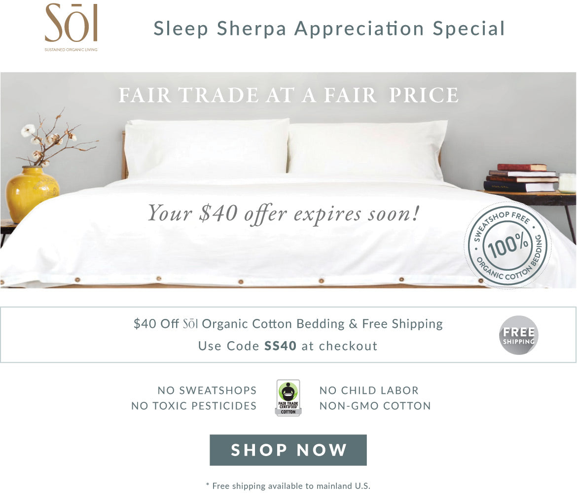 SOL Organics Certified Fair Trade Organic Cotton Bedding