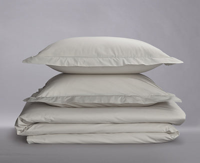 Percale Organic Duvet Cover Set White