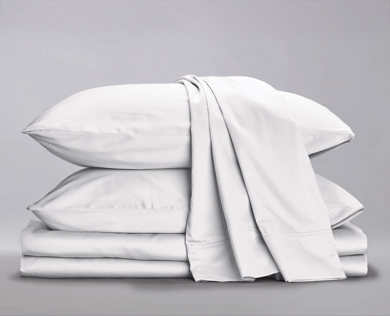 Beige Fitted Sheet Soft Quality Pillow Case Pair Organic Cotton Blend Sheets