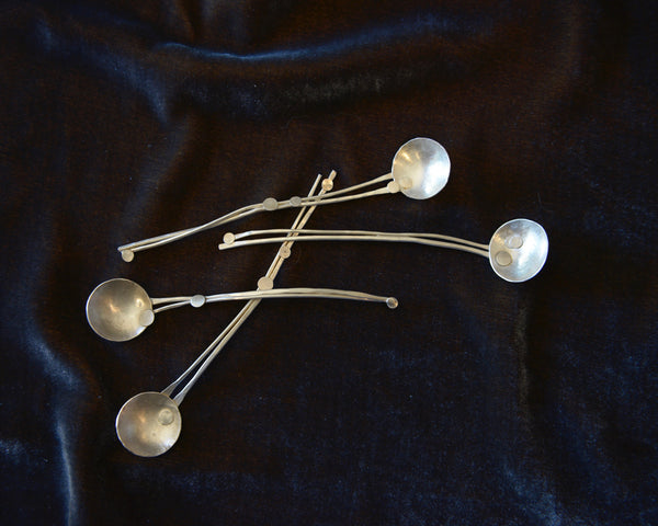 Sterling silver handmade spoon one-of-a-kind sticks n stones