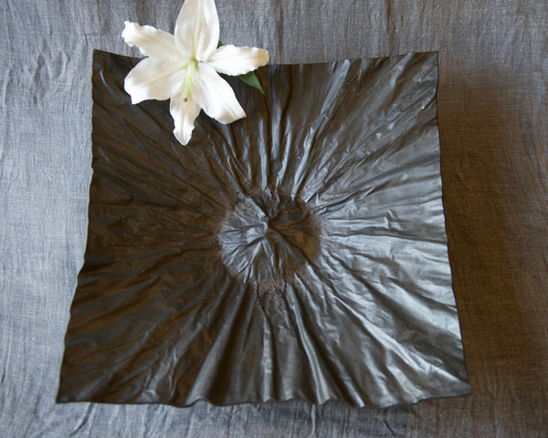 Earthenware large platter- Vellum design; matte Slate finish