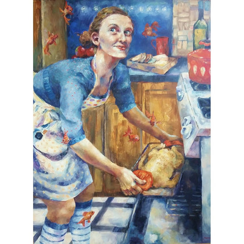 stravitzartgallery.com - Amanda Outcalt - Paintings - Dinner Time