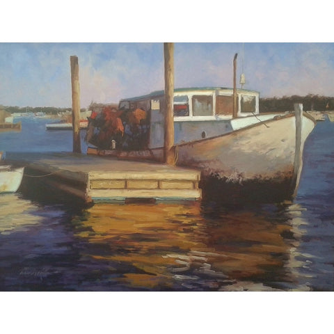 stravitzartgallery.com - Charles Kello - Paintings - Gloucester Docked