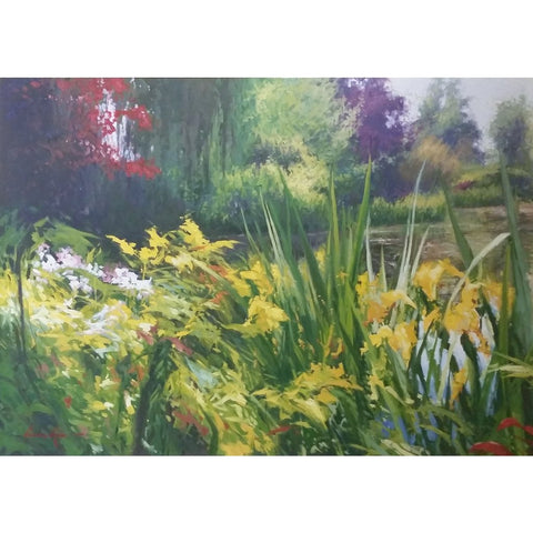 stravitzartgallery.com - Charles Kello - Paintings - View of Monet's Gardens II