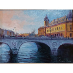 stravitzartgallery.com - Faye Vander Veer - Paintings - PONT au CHANGE