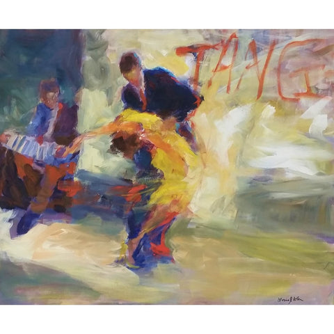 stravitzartgallery.com - Gloria Coker - Paintings - Tango on the Street II
