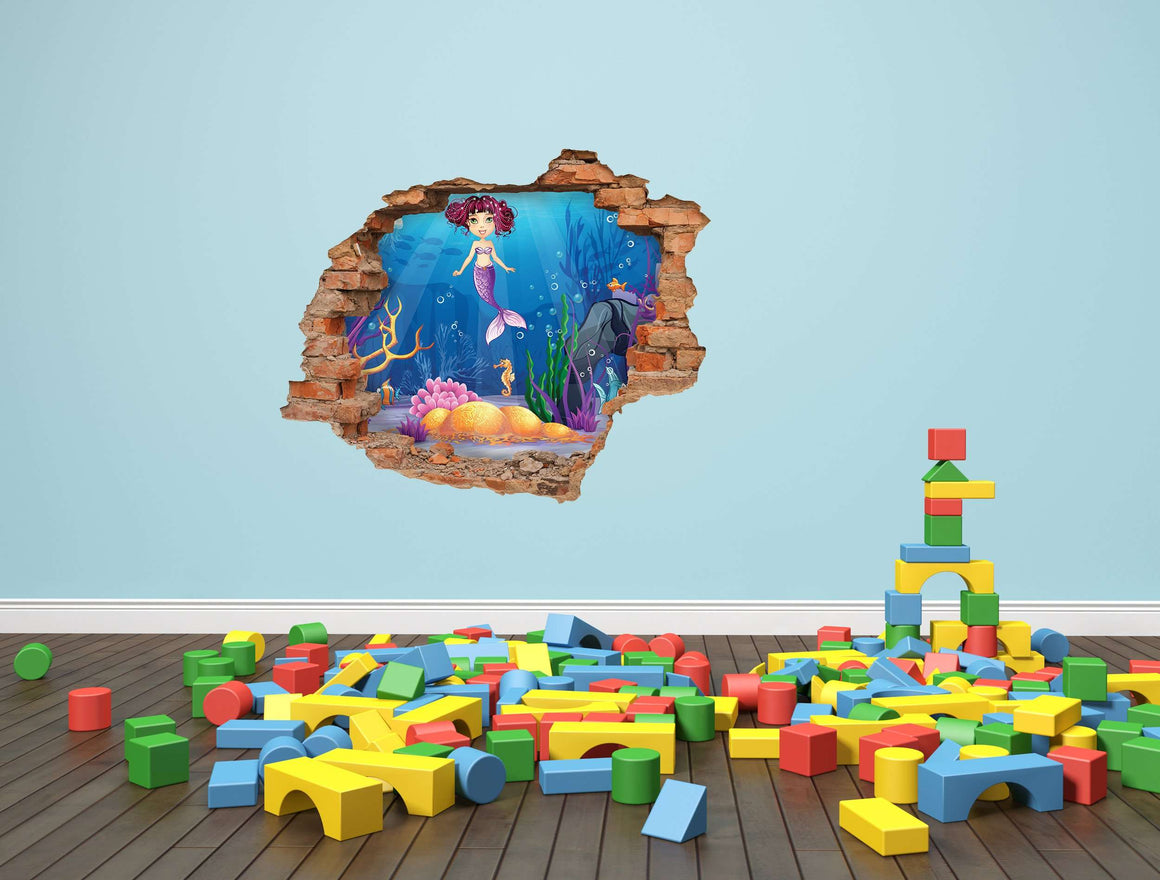 3D Art zidne naljepnice Mermaid - 3D055