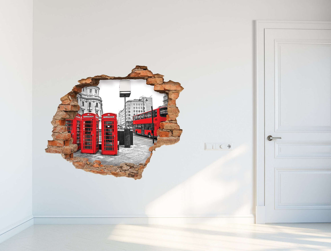 3D Art zidne naljepnice Red London - 3D031