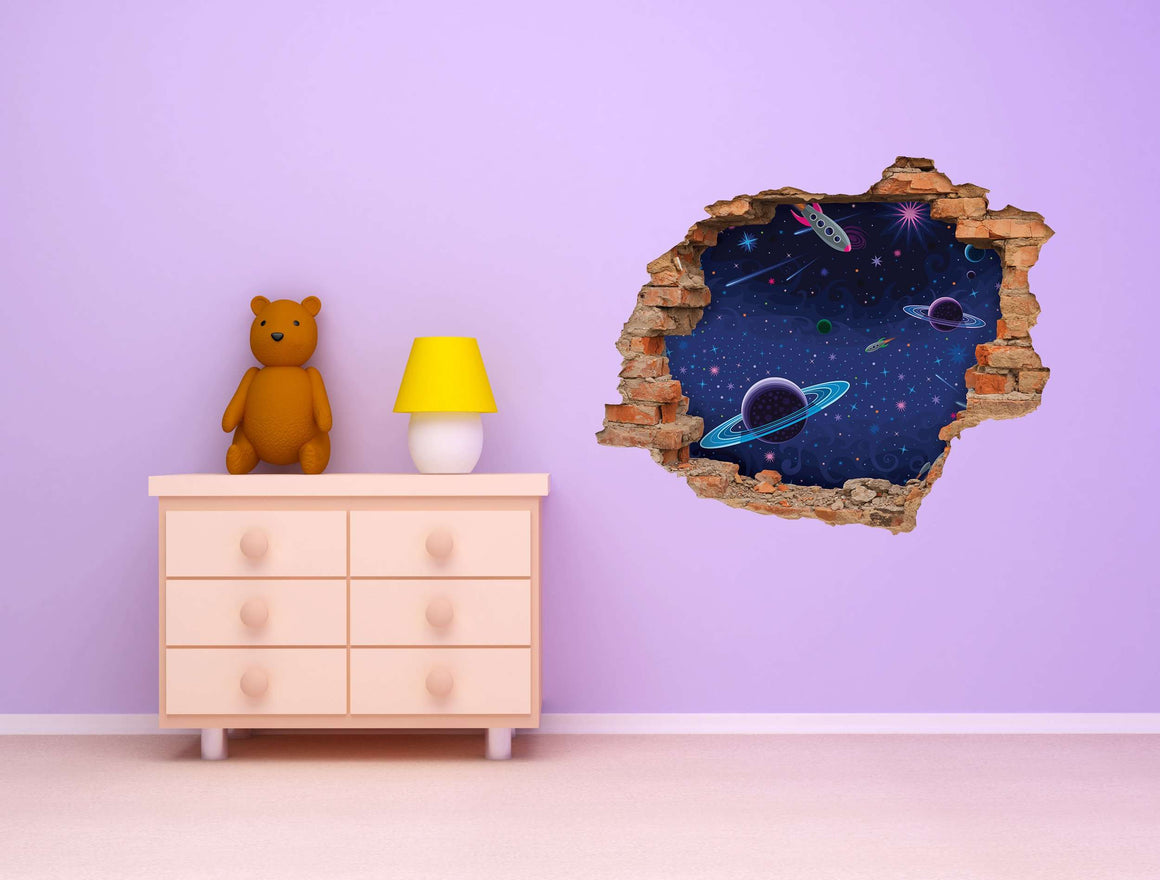 3D Art zidne naljepnice Space - 3D051