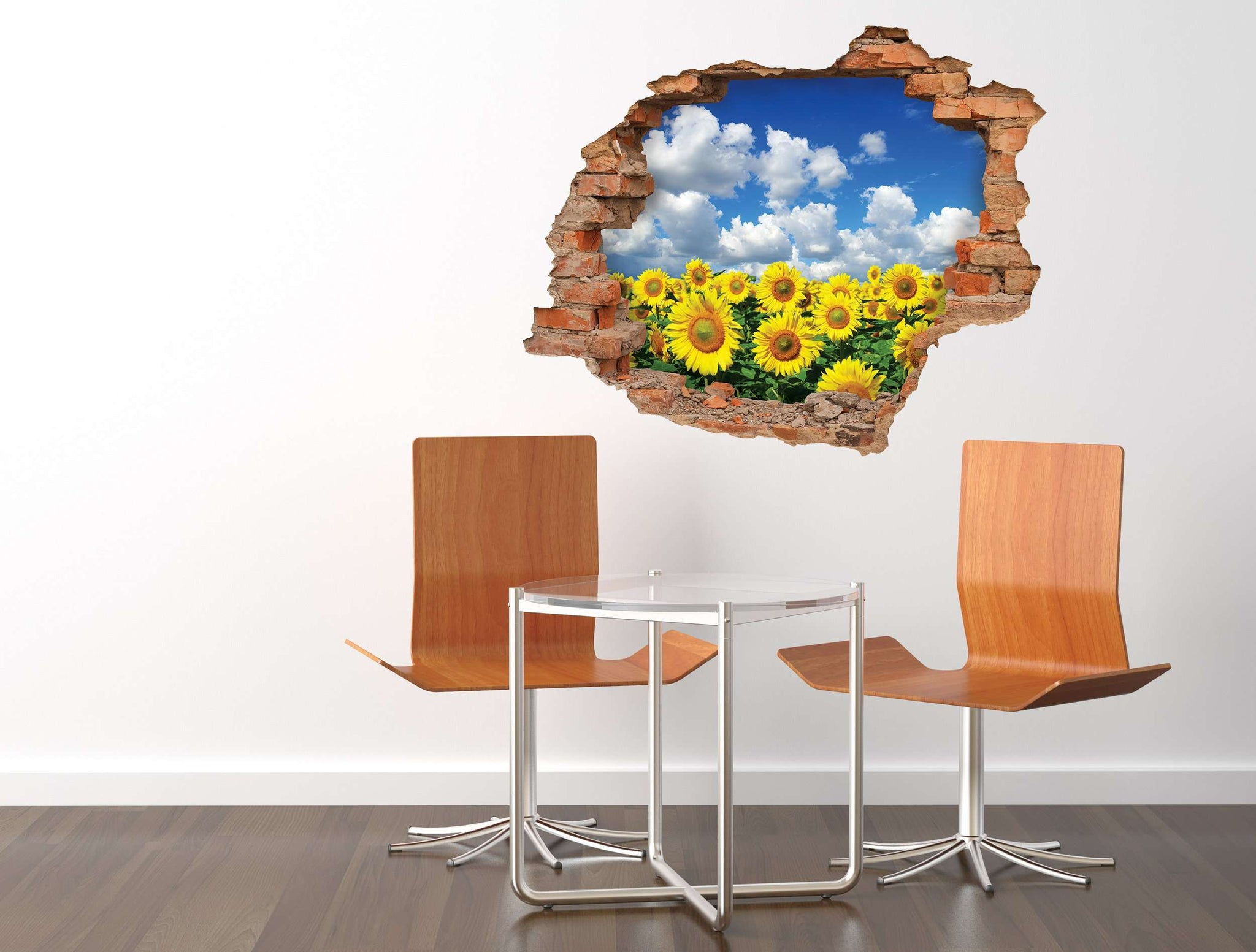 3D Art zidne naljepnice sunflower - 3D025