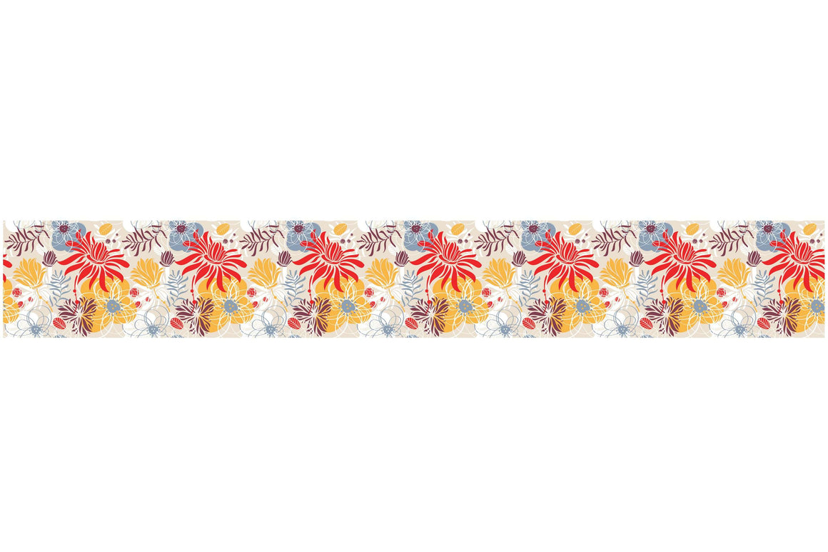 Bordure za zidove  colorized flowers bush BR022