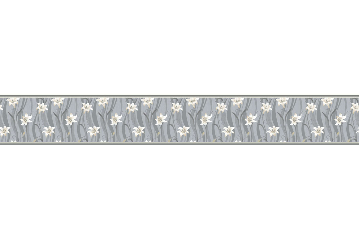 Bordure za zidove  Gray Flower  BR003