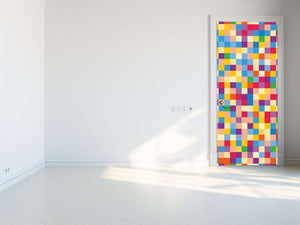 Tapete za vrata Colorful squares - TA091