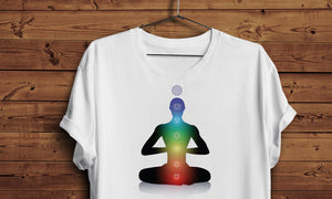 Majica Man with light chakras, T-Shirt Muška, Ženska i Dječji model 150g.  TS008