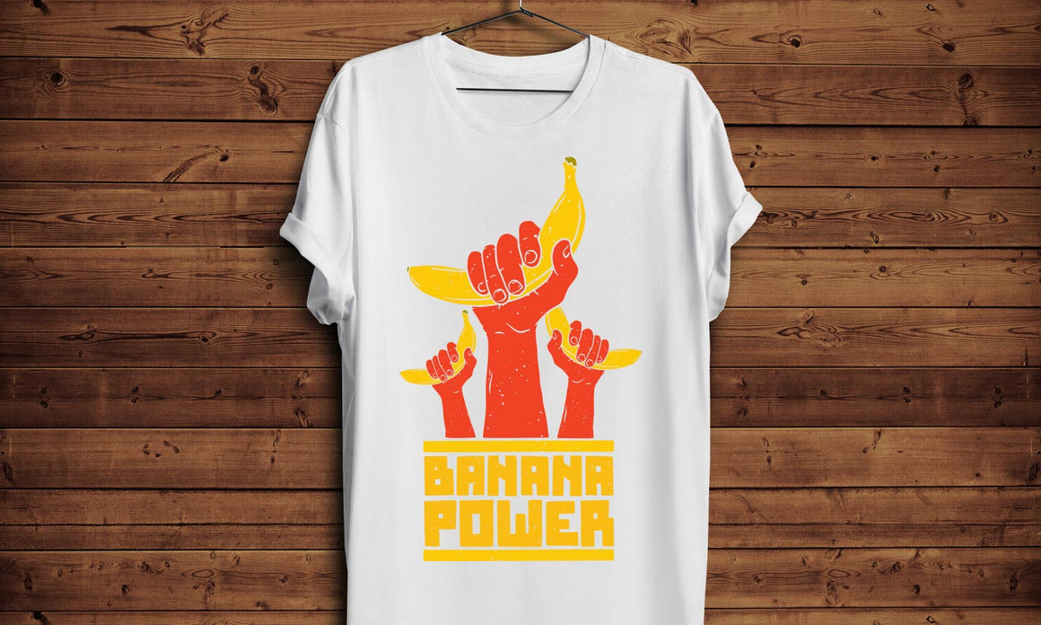 Majica Banana Power, T-Shirt Muška, Ženska i Dječji model 150g.  TS015
