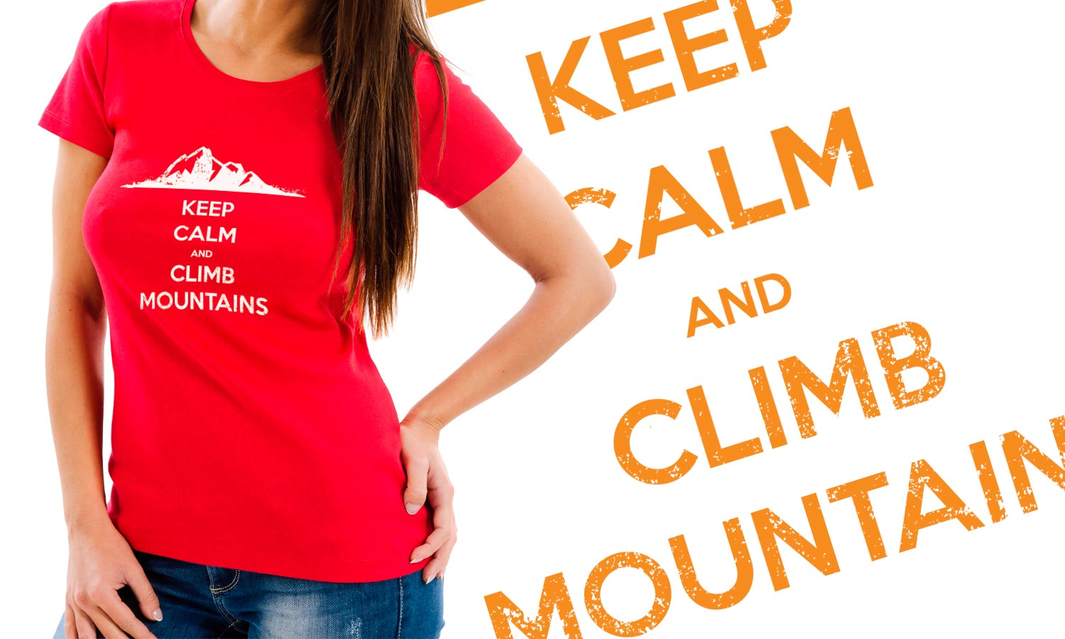 Majica Keep Calm and Climb Mountains , T-Shirt Muška, Ženska i Dječji model 150g.  TS021