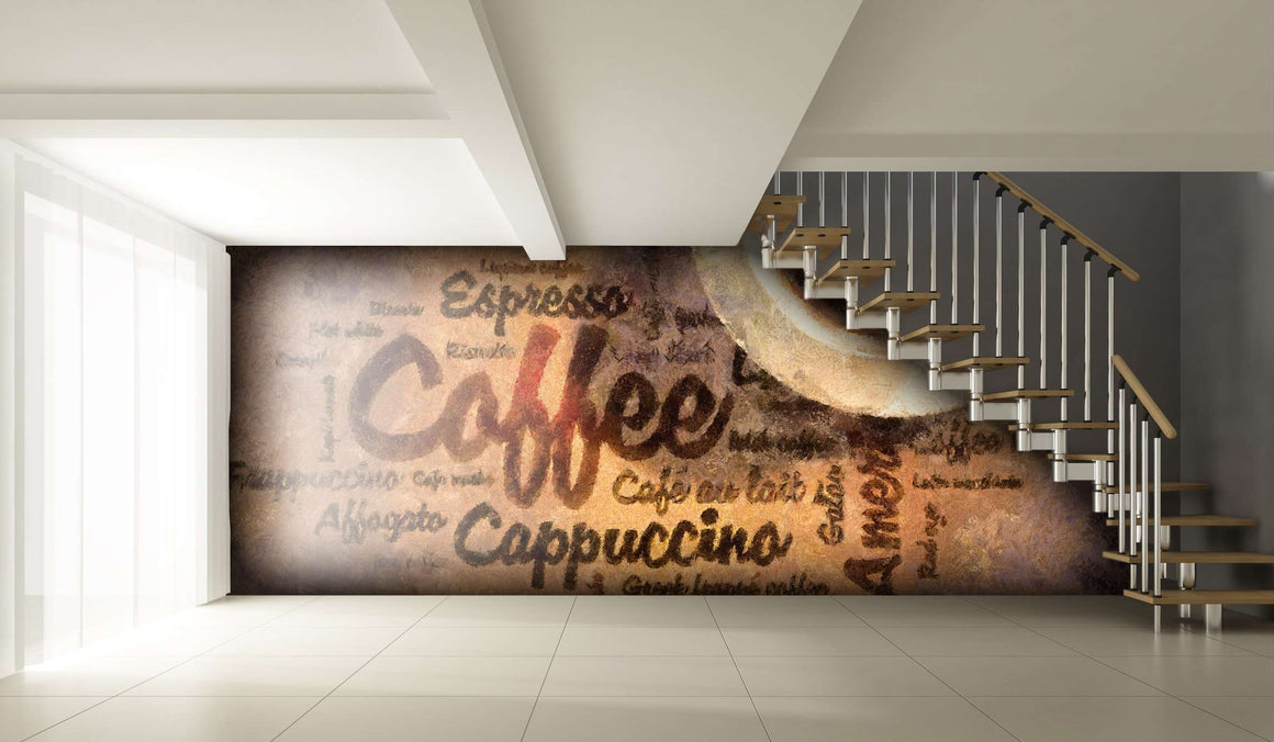Zidne tapete Coffee wordcud SW054