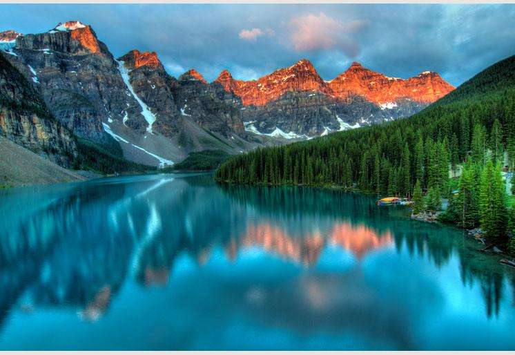 Zidne tapete Moraine Lake Sunrise SW086