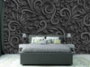 Zidne tapete Black 3d flower  SW561