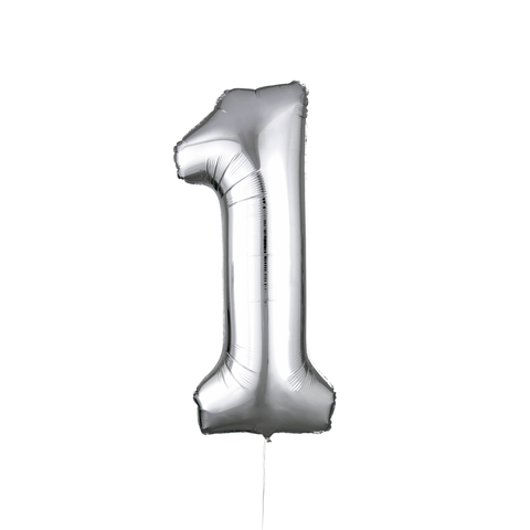 "34"" Silver Number Foil Balloon"