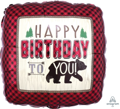 "17"" Little lumberjack birthday"