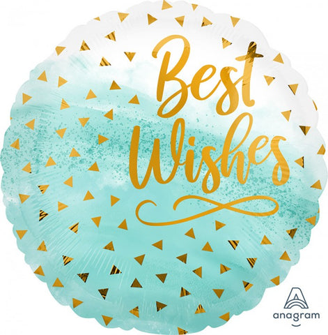 "18"" Best Wishes Gold Confetti"