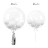 "Bespoke Bubble Balloons Sizes in 24"" and 20"""