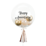 "20"" or 24"" Bespoke Bubble Balloon in Gold and Cream colour."