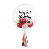"20"" or 24"" Bespoke Bubble Balloon in Ruby Red colour."
