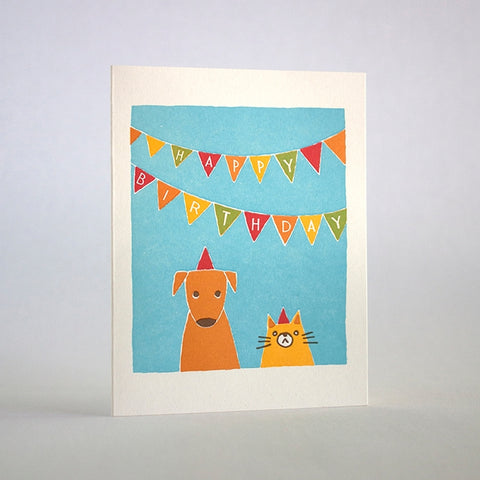 Birthday Cat Dog Card