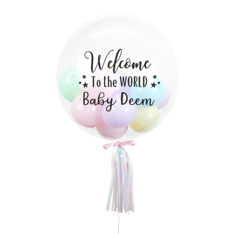 Pastel Coloured Bespoke Bubble Balloon 24""