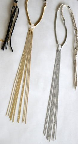 Snake Charmer Fringe Necklace