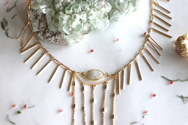 Barred Angel Collar Necklace