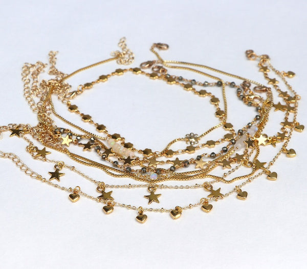 Layering Anklets - Rose Gold