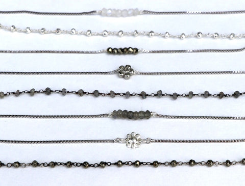 Layering Anklets- Silver