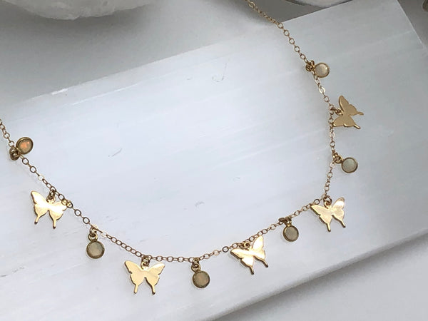 Fly My Darlin Charm Necklace