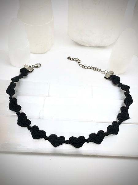 Lace Heart Choker
