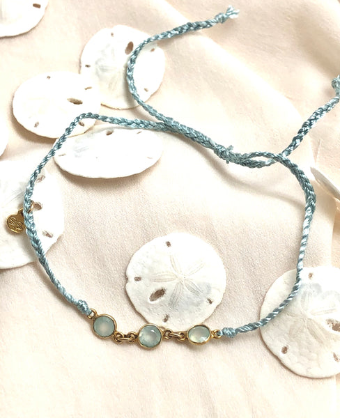 Silk and Stone Anklet
