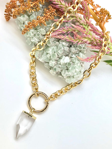 Crystal Eclipse Clasp  Necklace