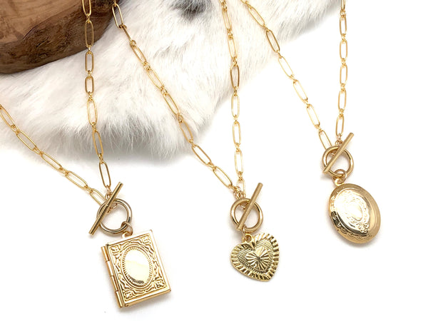Love Story Locket Necklace